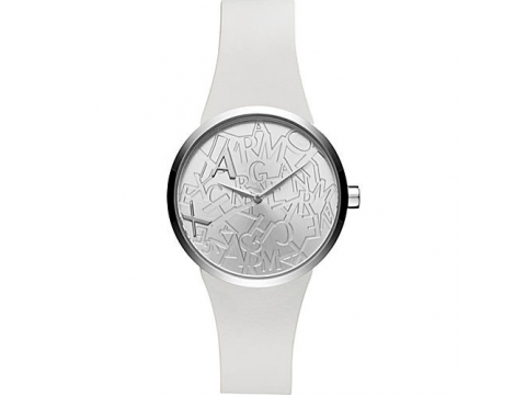 Ceasuri Femei Armani Exchange Street Silver-Logo Accented Dial Ladies Watch Silver Logo-Accented
