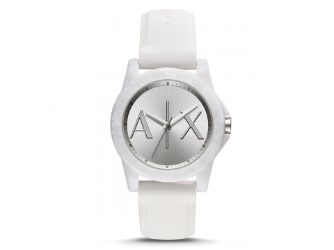 Ceasuri Barbati Armani Exchange White Textured Dial Watch White textured with AX logo