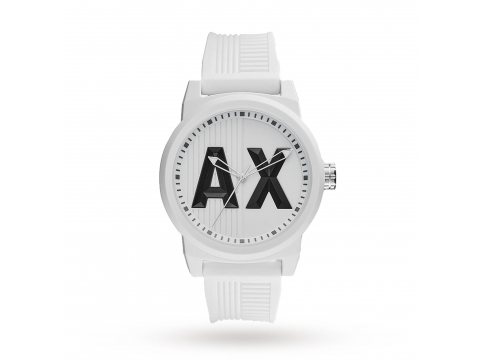 Ceasuri Barbati Armani Exchange ATLC White Silicone Strap Men's Watch White Matte