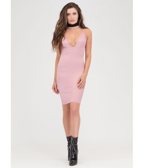 Imbracaminte Femei CheapChic The Silky Way Strappy Plunging Dress Mauve
