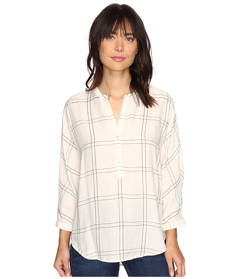 Imbracaminte Femei Lucky Brand White Plaid Shirt Natural Multi