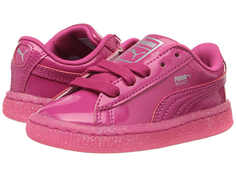 Incaltaminte Fete PUMA Kids Basket Patent Iced Glitter INF (Toddler) Beetroot PurpleBeetroot Purple