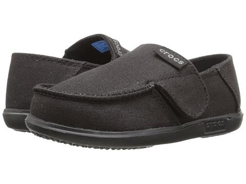 Incaltaminte Baieti Crocs Santa Cruz Canvas Loafer (ToddlerLittle Kid) BlackBlack