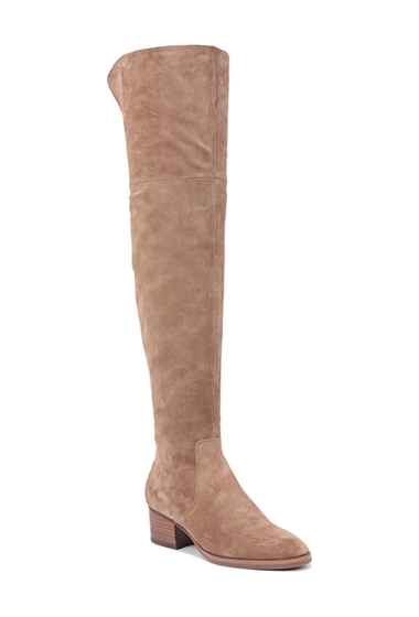 Incaltaminte Femei Via Spiga Ophira Over the Knee Boot DARK TAUPE