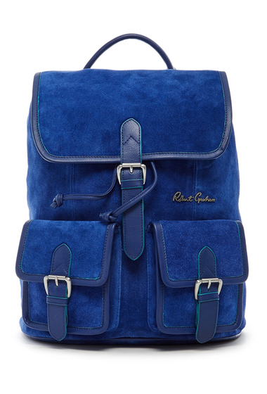 Genti Barbati Robert Graham Kormi Suede Backpack NAVY