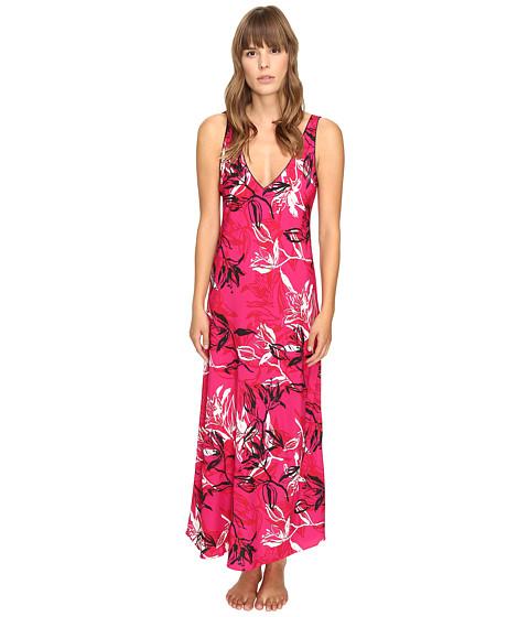 Imbracaminte Femei Oscar de la Renta Printed Poly Crepe Long Gown Berry Print