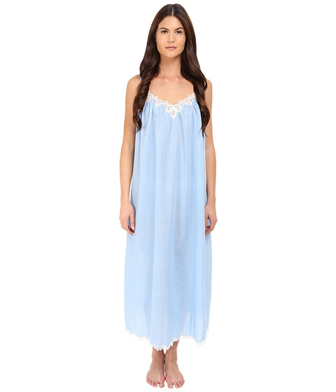 Imbracaminte Femei Oscar de la Renta Cross-Dyed PolyCotton Long Gown Pale Blue