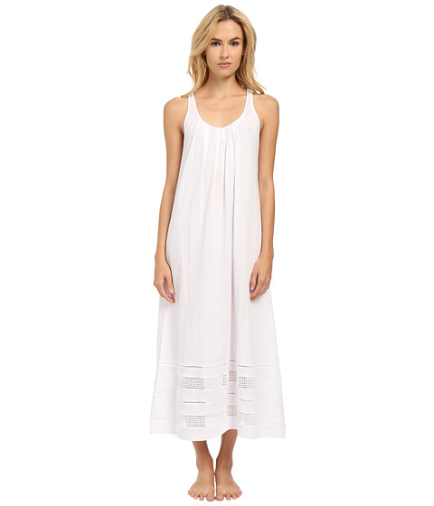 Imbracaminte Femei Oscar de la Renta Spa Pima Cotton Knit Long Gown Signature White