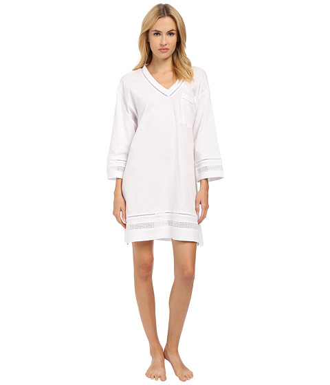 Imbracaminte Femei Oscar de la Renta Spa Pima Cotton Knit Sleepshirt Signature White