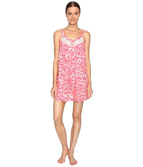 Imbracaminte Femei Oscar de la Renta Printed Pima Cotton Chemise Coral Hibiscus Ikat