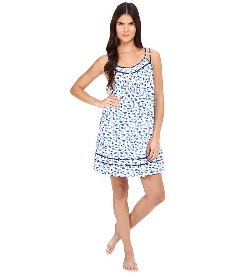 Imbracaminte Femei Oscar de la Renta Printed Luxe Pima Cotton Jersey Chemise Blue Print