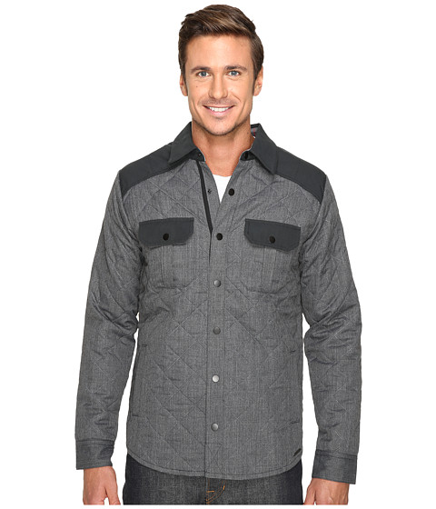 Imbracaminte Barbati Smartwool Summit County Quilted Shirt Jacket Charcoal Heather
