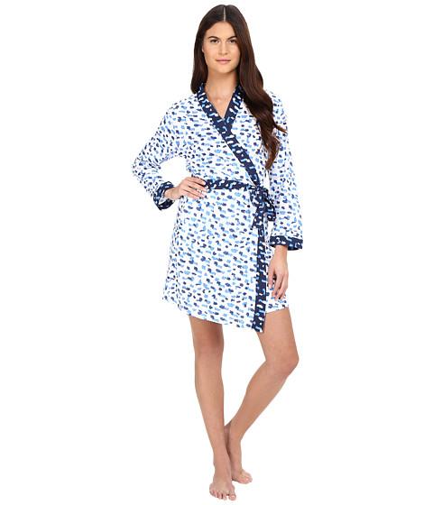 Imbracaminte Femei Oscar de la Renta Printed Luxe Pima Cotton Jersey Wrap Blue Print