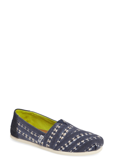 Incaltaminte Femei TOMS Classic Batik Stripe Slip-On Shoe NAVY