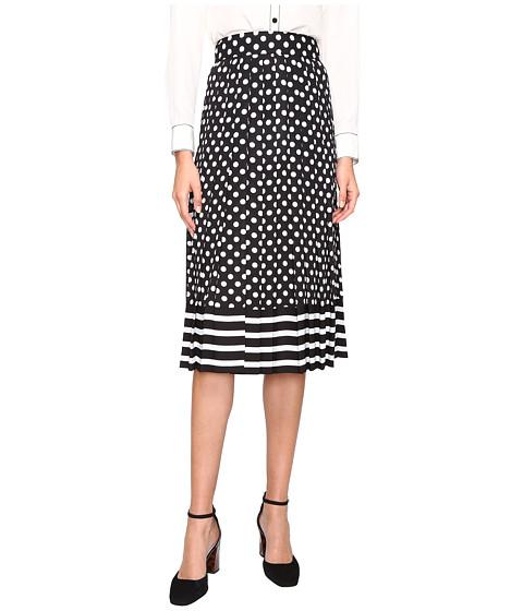 Imbracaminte Femei Kate Spade New York Dot Stripe Pleated Skirt BlackCream