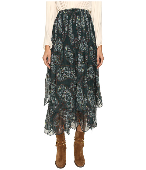 Imbracaminte Femei See by Chloe Crepon Paisley Maxi Skirt Frosty Green