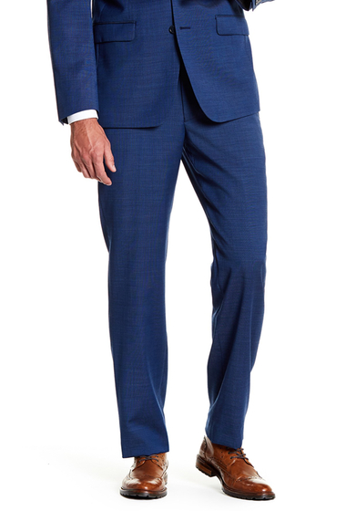 Imbracaminte Barbati Calvin Klein Mabry Navy Woven Flat Front Wool Suit Separates Trouser - 30-34 Inseam NAVY