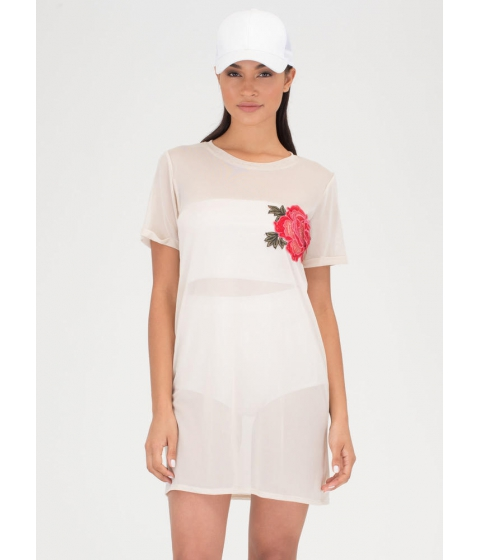 Imbracaminte Femei CheapChic By Any Other Name Sheer Tee Dress Sand