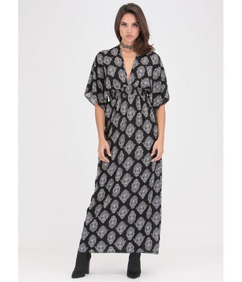 Imbracaminte Femei CheapChic Chic Weekend Plunging Printed Maxi Dress Black