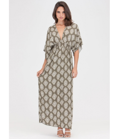 Imbracaminte Femei CheapChic Chic Weekend Plunging Printed Maxi Dress Olive