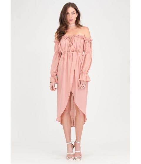 Imbracaminte Femei CheapChic Chic Date Off-shoulder High-low Dress Mauve