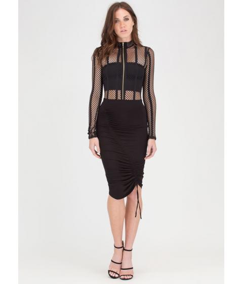 Imbracaminte Femei CheapChic Ruche Into Things Drawstring Skirt Black