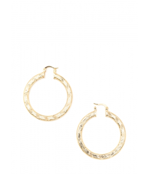Bijuterii Femei CheapChic Chic Glimmer Textured Hoop Earrings Gold