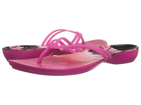 Incaltaminte Femei Crocs Isabella Graphic Flip Candy PinkTropical