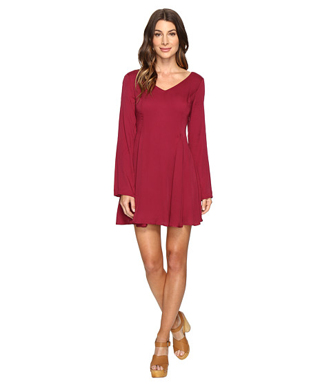 Imbracaminte Femei Brigitte Bailey Gabriele Bell Sleeve Flared Dress Wine