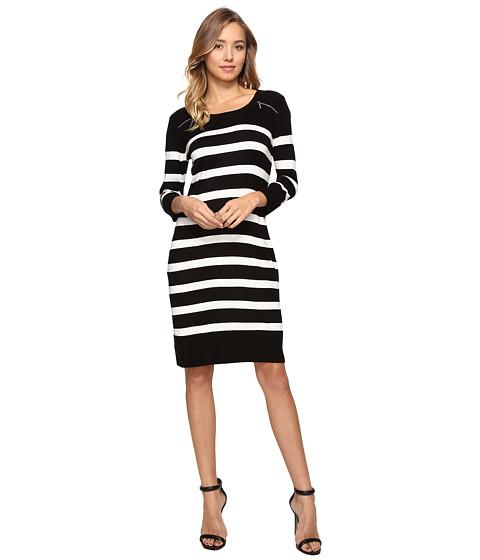 Imbracaminte Femei Christin Michaels Monroe Stripe Dress BlackIvory