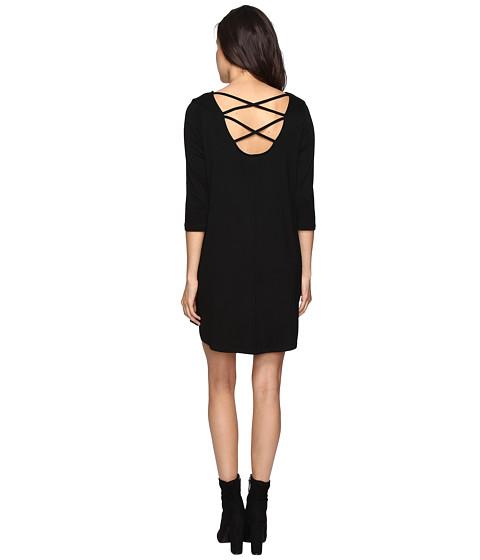 Imbracaminte Femei Culture Phit Nova 34 Sleeve Dress with Back Strap Detail Black