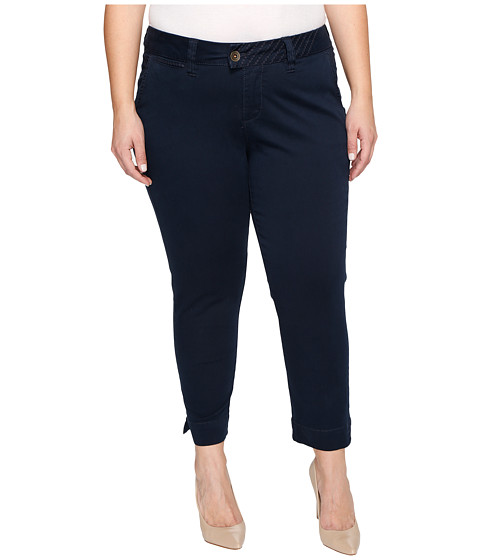 Imbracaminte Femei Jag Jeans Plus Size Creston Ankle Crop in Bay Twill Nautical Navy