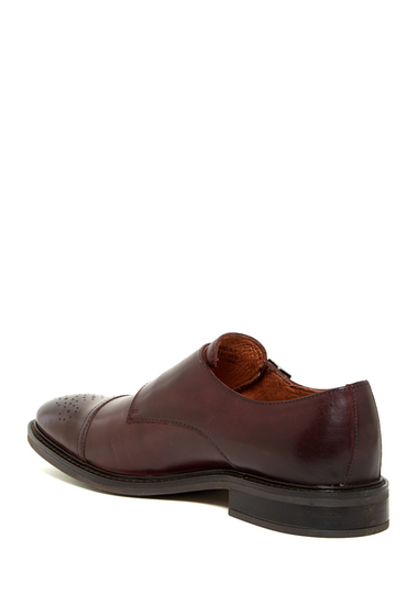 Incaltaminte Barbati Joseph Abboud Bishop Cap Toe Double Monk Strap Shoe BURGUNDY