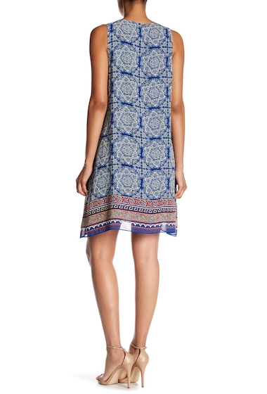 Imbracaminte Femei Max Studio Crepe Shift Dress MONACO BLUEMULTI ZEN TILE PANEL