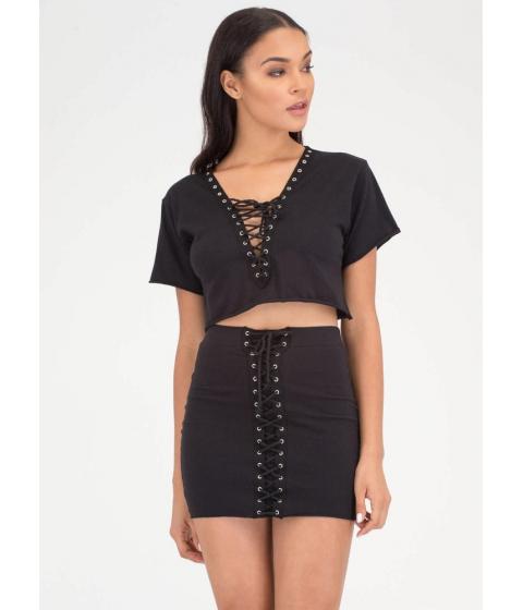 Imbracaminte Femei CheapChic All Laced Up Two-piece Minidress Black