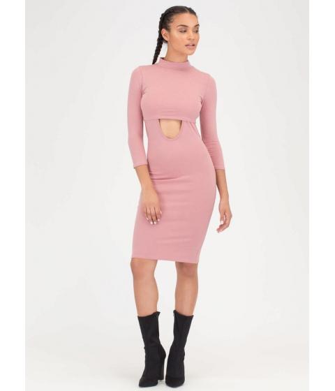 Imbracaminte Femei CheapChic Jumper Round Two-piece Mockneck Dress Blush