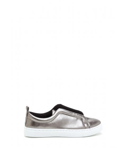 Incaltaminte Femei CheapChic It Pick Metallic Slip-on Sneakers Pewter