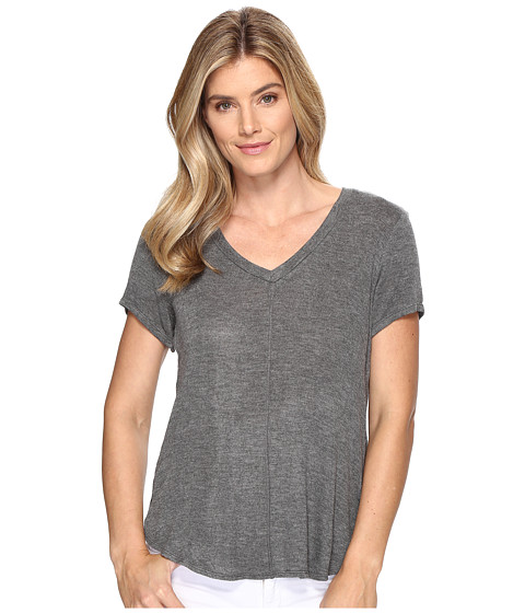 Imbracaminte Femei Bobeau Adley V-Neck High-Low T-Shirt Charcoal Grey