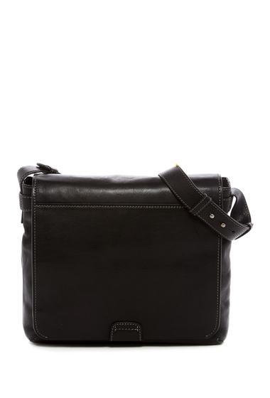Genti Barbati Frye Chris Leather Messenger Bag BLACK