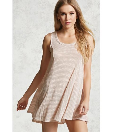 Imbracaminte Femei Forever21 Slub Knit Mini Swing Dress Taupe