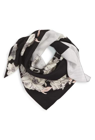 Accesorii Femei Halogen Metro Floral Square Silk Scarf BLACK COMBO