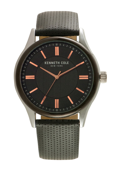 Ceasuri Barbati Kenneth Cole New York Mens Embossed Leather Watch NO COLOR