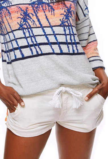 Imbracaminte Femei Free People Beach Please Linen Blend Short WHITE