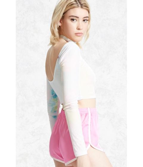 Imbracaminte Femei Forever21 Velvet Tie-Dye Crop Top Bluepink