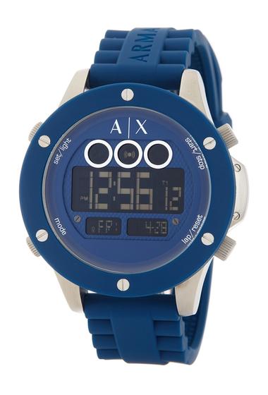 Ceasuri Barbati Armani Exchange Mens Multifunction Digital Silicone Strap Watch NO COLOR