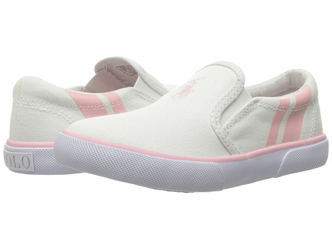 Incaltaminte Fete Polo Ralph Lauren Prezli (Toddler) WhiteLight Pink Pony PlayerLight Pink