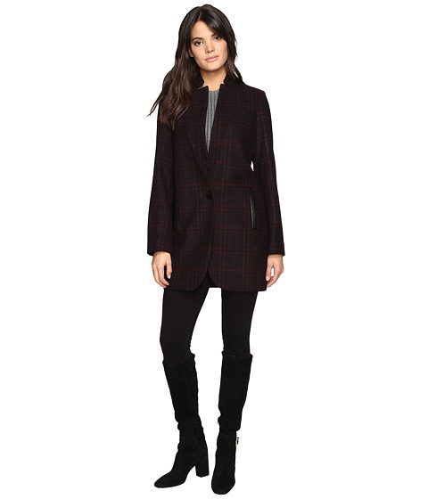 Imbracaminte Femei MICHAEL Michael Kors Wool Plaid Coat M221670T Red Plaid