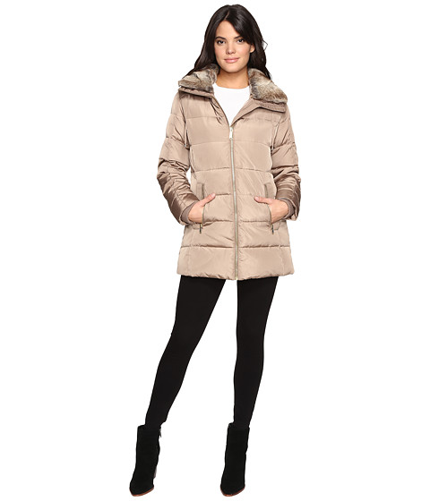 Imbracaminte Femei Liebeskind Zip Front Faux Fur Collar Down M821319T Truffle
