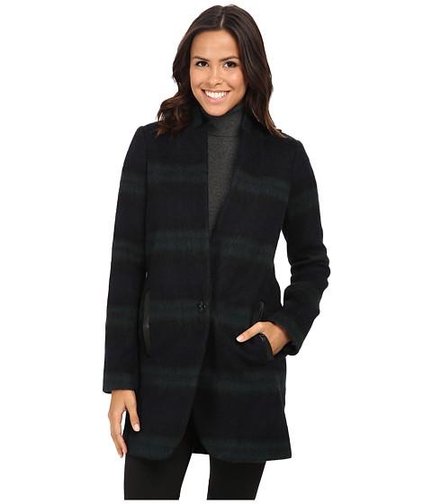 Imbracaminte Femei MICHAEL Michael Kors Plaid Menswear Wool Coat BlackGreen