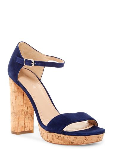 Incaltaminte Femei Pour La Victoire Yvette Platform Ankle Strap Sandal INDIGO